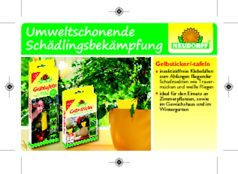 Neudorff gelbtafeln kleinformatig for Gelbsticker gegen fliegen